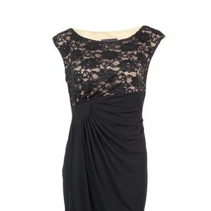 Connected Apparel sexy dress. Size 16 Black/Nude